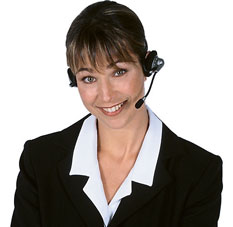 Photo of an attractive female at a call centre
