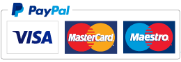 Credit and debit cards accepted: Visa, MasterCard and Maestro