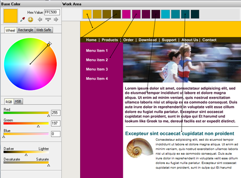 Colour selection utility (ColorImpact)