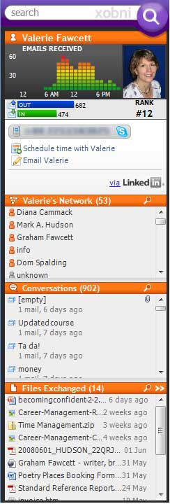 Xobni Panel from Outlook